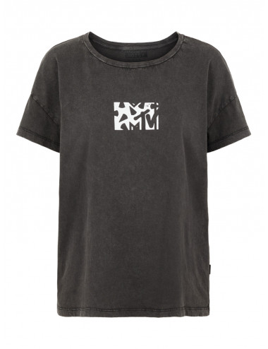 NMLICIE COMMAND S/S WASHED TOP BG