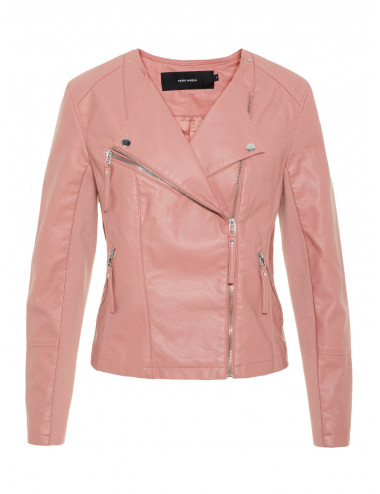 VMRIA FAV SHORT FAUX LEATHER JACKET COL
