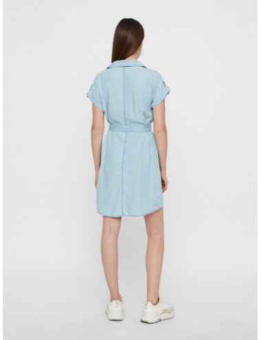 NMVERA S/S ENDI TENCEL SHIRT DRESS NOOS