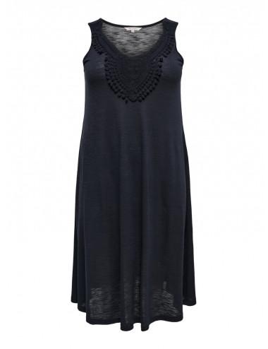 CARELSA SL BLK CROCHET DRESS